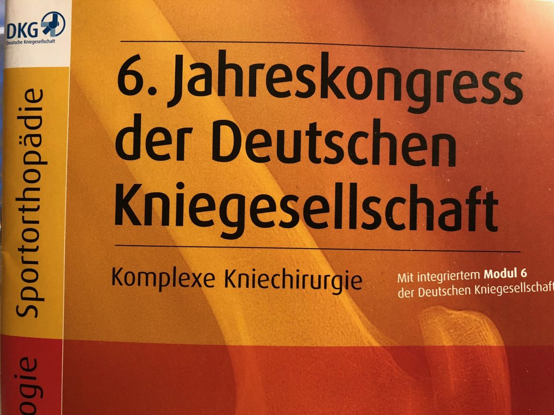 6. Jahreskongress der Deutschen Kniegesellschaft 1